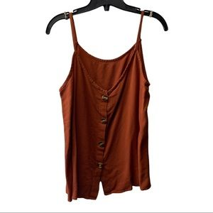 Burnt orange with button tang top size XL